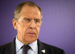 Russia's Foreign Minister Sergey Lavrov addresses the media at the Nuclear Security Summit (NSS) in The Hague, Netherlands, on Monday, March 24, 2014. (AP Photo/Evert-Jan Daniels, Pool)
