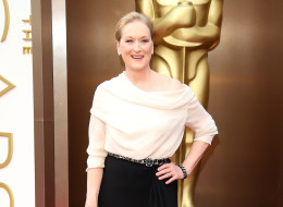 HOLLYWOOD, CA - MARCH 2: Meryl Streep arrives at the 86th Annual Academy Awards at Hollywood & Highland Center on March 2, 2014 in Los Angeles, California. (Photo by Dan MacMedan/WireImage)