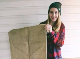 Surrey high school student Courtney Barich will wear a burlap dress to prom for charity.