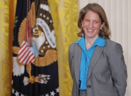President Obama has chosen Sylvia Mathews Burwell, his budget director, to replace U.S. Health and Human  Services Secretary Kathleen Sebelius, the White House said.    (Photo credit should read MANDEL NGAN/AFP/Getty Images)