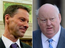 Senator Mike Duffy and former Harper chief of staff Nigel Wright