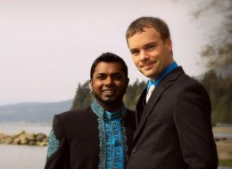 B.C. MLA Spencer Chandra-Herbert, right, and his husband, Romi Chandra, were married in 2010.