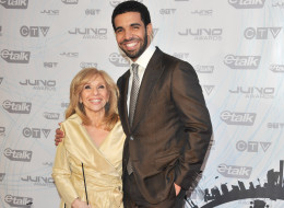 TORONTO, ON - MARCH 27:  Host/singer Drake (R) with his mother Sandi Graham pose on the red carpet at the 2011 Juno Awards at the Air Canada Centre on March 27, 2011 in Toronto, Canada.  (Photo by George Pimentel/WireImage)