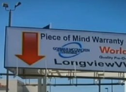 Gorman McCracken Mazda in Longview, Texas, has received its share of snarky comments since posting this misspelled billboard six months ago.