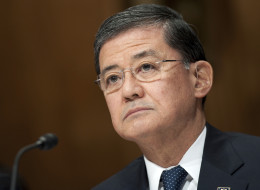 Veterans Affairs Secretary Eric Shinseki testifies at a Senate Budget committee hearing in Washington. (Photo By Chris Maddaloni/CQ Roll Call)