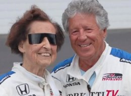 Edith Pittenger, 102, says she's disappointed racing great Mario Andretti couldn't go faster than 180 mph during their laps around the Indianapolis Motor Speedway.