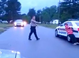 Ervin Laws getting tased by a Virginia sheriff's deputy. (Video Still: Raymond Berndt)