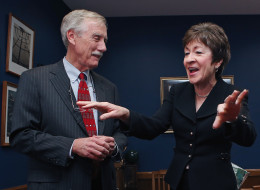 Sen. Angus King (I-Maine) has endorsed Sen. Susan Collins (R-Maine) for reelection. (Chip Somodevilla/Getty Images)
