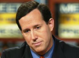 U.S. Senator Rick Santorum (R-PA) during a December 15, 2002 taping of NBC's