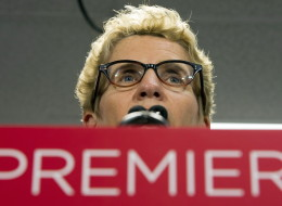 Ontario Liberal leader Kathleen Wynne speaks during a campaign stop in Toronto on Wednesday June 11, 2014, 2014. THE CANADIAN PRESS/Frank Gunn (CP)