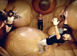 We can't stop watching this boobie bouncy house (NSFW).