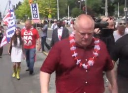 Toronto Mayor Rob Ford hit the campaign trail on Canada and attracted fans and disappointed citizens.