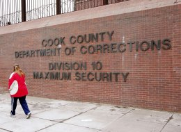 A 2006 file photo showing the entrance of a maximum security detention area of the Cook County jail.