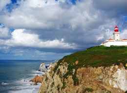 A couple fell off a cliff a Cabo de Roca in Portugal (pictured) while trying to take a selfie, police said.