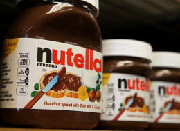 SAN FRANCISCO, CA - AUGUST 18:  Jars of Nutella are displayed on a shelf at a market on August 18, 2014 in San Francisco, California.  The threat of a Nutella shortage is looming after a March frost in Turkey destroyed nearly 70 percent of the hazelnut crops, the main ingredient in the popular chocolate spread. Turkey is the largest producer of hazelnuts in the world.