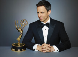 PRIMETIME EMMY AWARDS -- Season: 66 -- Pictured: Seth Meyers, Host -- (Photo by: Rodolfo Martinez/NBC/NBCU Photo Bank via Getty Images)