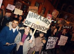 Students from Leeds campaigning against nightclub Tequila UK's sexist advertising