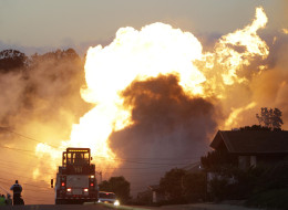 In this Sept. 9, 2010 file photo, a massive fire roars through a mostly residential neighborhood in San Bruno, Calif. (AP Photo/Paul Sakuma, File)