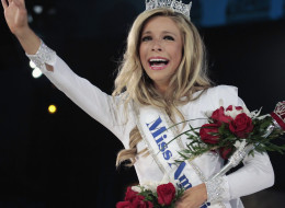 Kira Kazantsev, newly crowned Miss America 2015, once interned at a Planned Parenthood clinic. Photo: Donald Kravitz