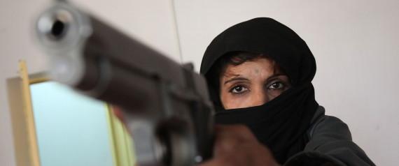 TALIBAN WOMAN GUN