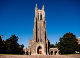 A general view of the Duke University Chapel on campus of Duke University on October 26, 2013 in Durham, North Carolina. (Photo by Lance King/Getty Images)