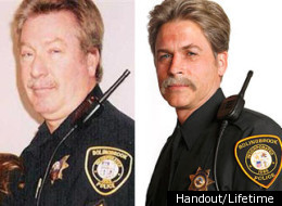 Drew Peterson (left) and Rob Lowe as Peterson in
