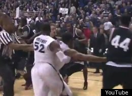 Refs called the Xavier-Cincinnati game in the final seconds due to a bench-clearing brawl.