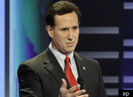 Republican presidential hopeful Rick Santorum is lumping together his two leading rivals, Mitt Romney and Newt Gingrich, and saying their records are too much like President Barack Obama's on big issues like health care, climate change and Wall Street bailouts.