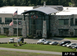 In this July 28, 2008 file photo, Blackwater Worldwide's headquarters is seen in Moyock, N.C.