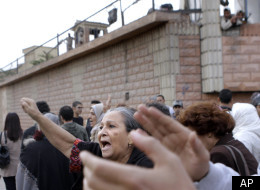 Hundreds of Egyptian protesters shout in front of Torah prison in Cairo, Wednesday, Nov. 9, 2011, in support of jailed Alaa Abdel-Fattah, one of Egypt's most vocal activists. (AP)