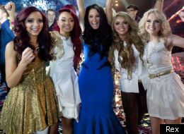 Little Mix winners with their mentor Tulisa