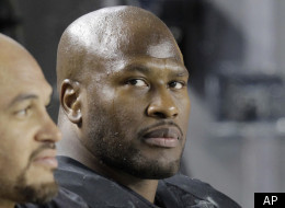 FILE - In this Dec. 8, 2011, file photo, Pittsburgh Steelers linebacker James Harrison, right, sits on the bench during the third quarter of an NFL football game against the Cleveland Browns in Pittsburgh. Harrison has been suspended for one game without pay for his hit last week on Browns quarterback Colt McCoy. NFL executive vice president Ray Anderson said Tuesday, Dec. 13, 2011, the suspension is the result of Harrison's fifth illegal hit against a quarterback in the past three seasons. (AP