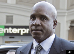 Former baseball player Barry Bonds arrives at federal court for sentencing on Friday, Dec. 16, 2011, in San Francisco. Bonds, convicted in April of obstructing a government investigation into steroid use among athletes, faces up to 21 months in prison. (AP Photo/Ben Margot)