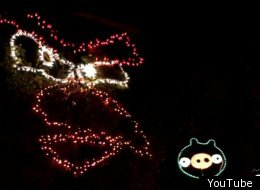 Angry Birds Christmas Light Display