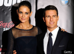 Katie Holmes and Tom Cruise at the Mission: Impossible premiere