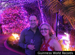David and Janean Richards of Forest Act, Australia, have set a new world record for Most Christmas Lights on a Residential Property.