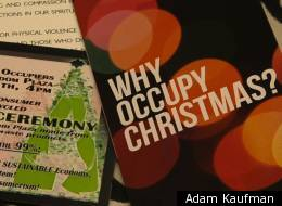 A pamphlet distributed by the group Occupy Faith NYC informs protesters about the meaning of the Occupy Christmas event.