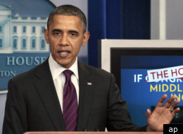 President Barack Obama gave remarks Thursday on Congress' payroll tax cut plan.