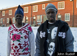Dak More, 25, and his mother Nyatut More, 64, escaped wartorn southern Sudan in 1992 and were resettled as refugees in the U.S. in 1995. Dak More recently spent six months assisting the Omaha Police Department with gang prevention in the city's large Sudanese refugee community.