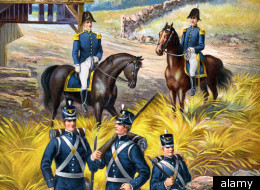 War of 1812-era U.S. soldiers.