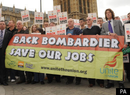 Bombardier factory workers lobbying the House of Commons in December over proposed job losses