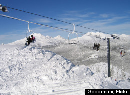 Take a ride on the ski lift at Mount Bachelor.