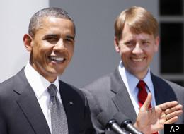 President Barack Obama and Richard Cordray.