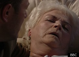 Pat says farewell in EastEnders, as Pam St Clements leaves the soap after 26 years