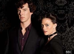 Benedict Cumberbatch and Lara Pulver in 'Sherlock'