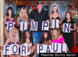 A photo taken after the Moonlite BunnyRanch's previous Ron Paul endorsement.