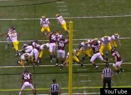 Michigan's fake field goal turned into a bizarre reception in the Sugar Bowl.