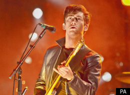 Alex Turner of the Arctic Monkeys came off stage before the appointed hour, and missed the celebration