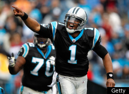 CHARLOTTE, NC - DECEMBER 24: Cam Newton #1 of the Carolina Panthers celebrates after his team scored a touchdown during their game against the Tampa Bay Buccaneers at Bank of America Stadium on December 24, 2011 in Charlotte, North Carolina. (Photo by Streeter Lecka/Getty Images)