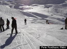 Skiers take on the slopes at Ski Ward.